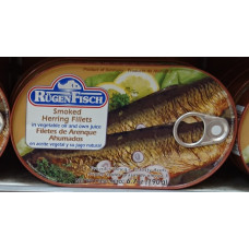 Rügenfisch - geräucherte Heringsfilets smoked in vegetable oil and own juice Fischkonserve 190g (24-48h Lieferzeit)